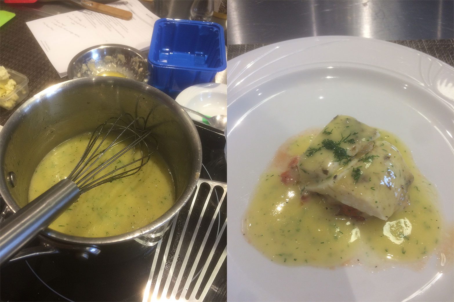 Beurre blanc on fish