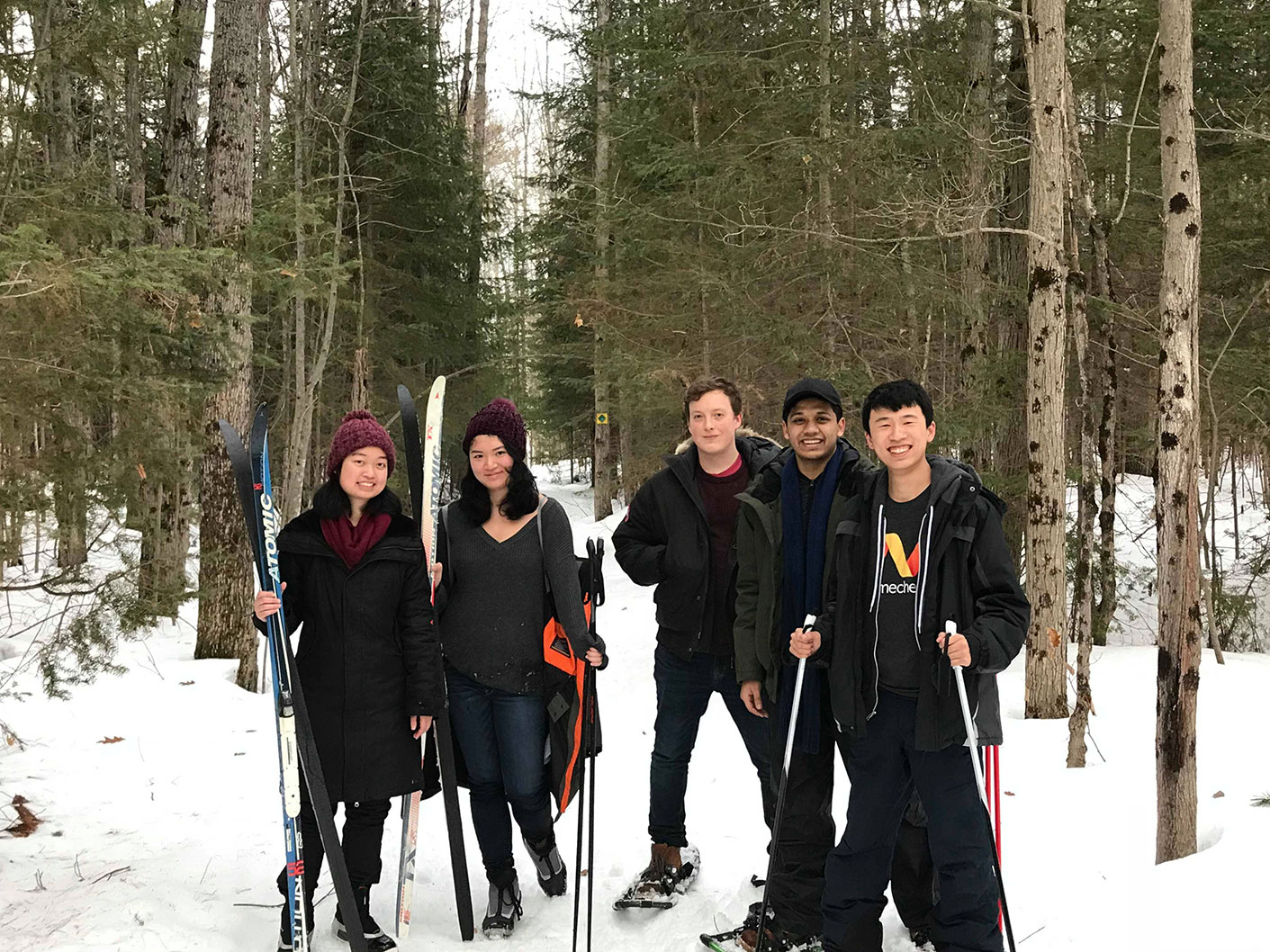 We went skiing and snowshoeing!